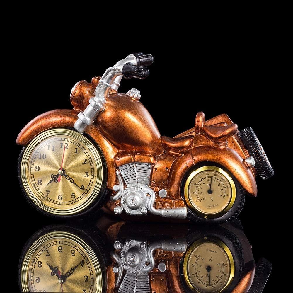 MUMUWU 置き時計 オートバイのワインは、樹脂ワインは、クロックワインボトルラックラッククリエイティブギフト飾りラック