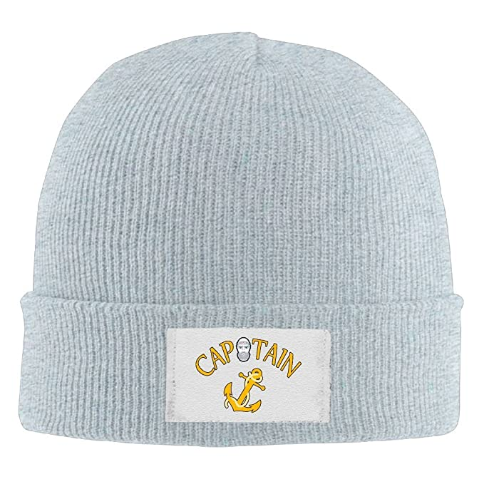 Captain Ships Anchor Warm Winter Hats Classic Beanie Cap Soft Toboggan Hat 7881d1031aa0
