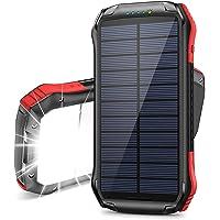 ORITO Cargador Solar Portátil Power Bank Solar 16000mAh, Batería Externa Solar con Carga Rápida 2 Salidas USB y 1…