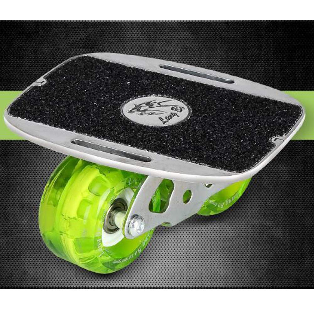 ZY Tragbares Stra/ßenrollendrillbrett Aufgeteilte Art Skateboard Aluminiumlegierung Verschlei/ßrad Skateboard,Black,Green