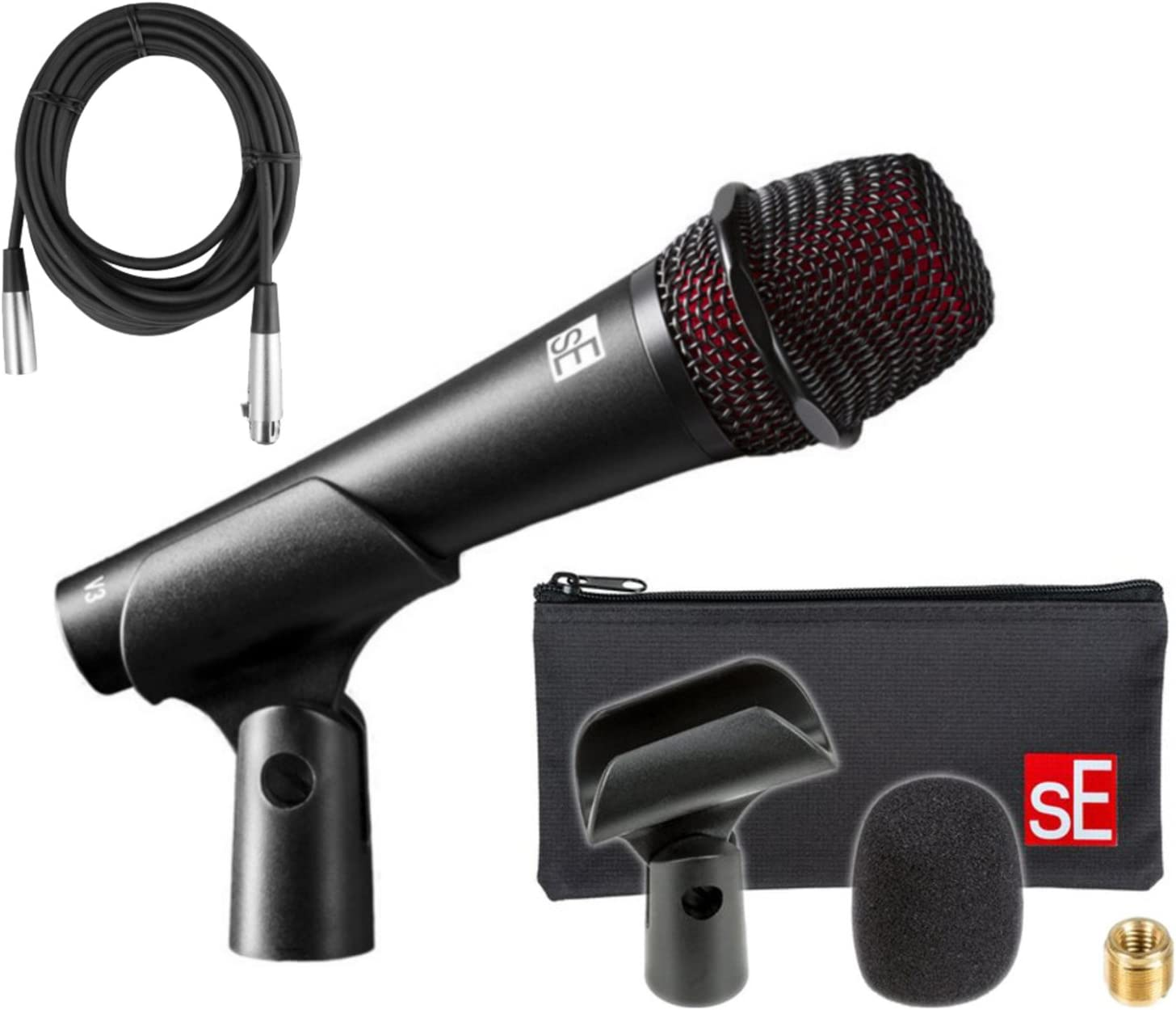 New sE Electronics V3 Dynamic Cardioid Microphone Live Vocal Free XLR Cable