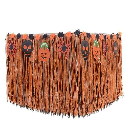 enerhu faldón de Halloween mantel - Fiestas. Negro Naranja: Amazon ...