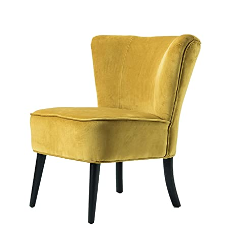Super Yellow Velvet Uphholstered Accent Chair Mid Century Modern Armless Slipper Chair For Living Room Bedroom Yellow Squirreltailoven Fun Painted Chair Ideas Images Squirreltailovenorg