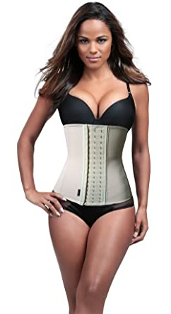 ded639c443 Woman Plus Size Corset Waist Trainer Cincher Long Torso Body Shaper Apricot  4XL