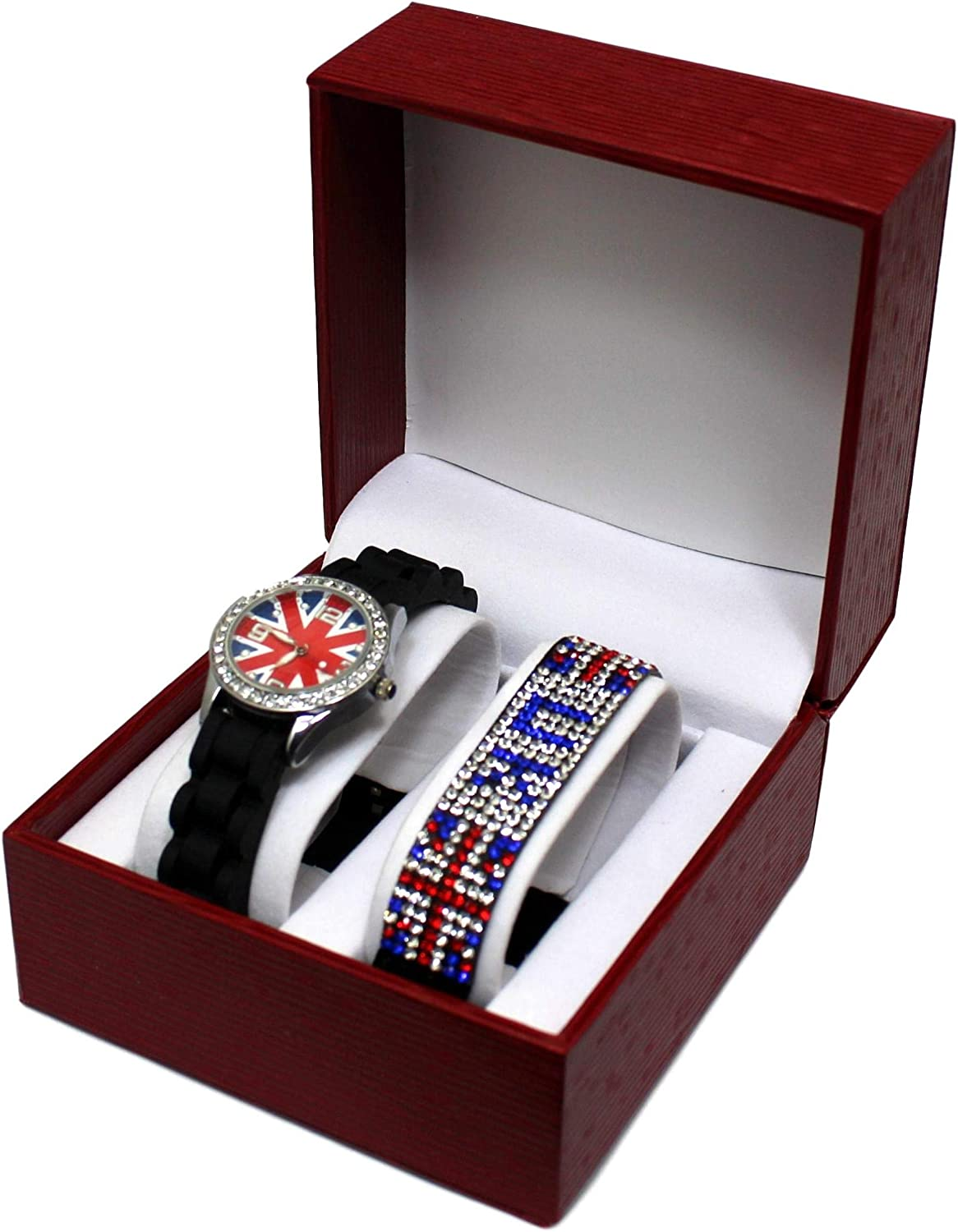 Kit Reloj Niños Adolescente niña London Londres + Pulsera Bandera ...