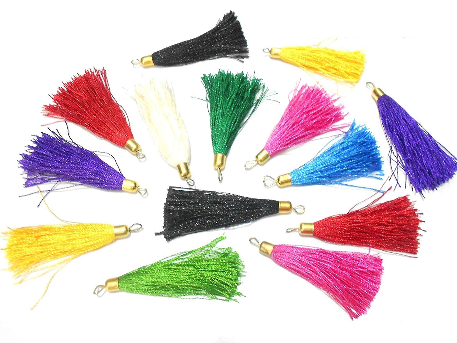 Keychain Bags 100 Pcs Thread Tassels Bunch for DIY Crafts Jewelry in Multicolor