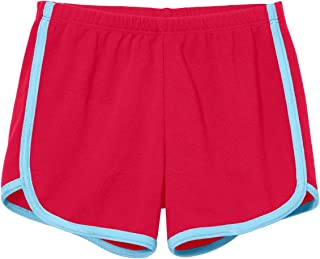 product image for City Threads Girls Running Workout Shorts Yoga Sport Fitness Short 100% Cotton - Made in USA