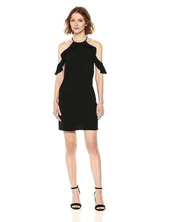3d27c3620d479 Cooper   Ella Women s Saga Ruffle Cold Shoulder Cocktail Dress ...