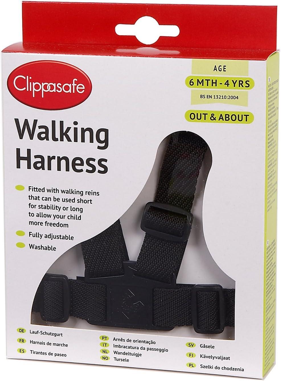 Clippasafe Walking Geschirr und Z/ügel schwarz