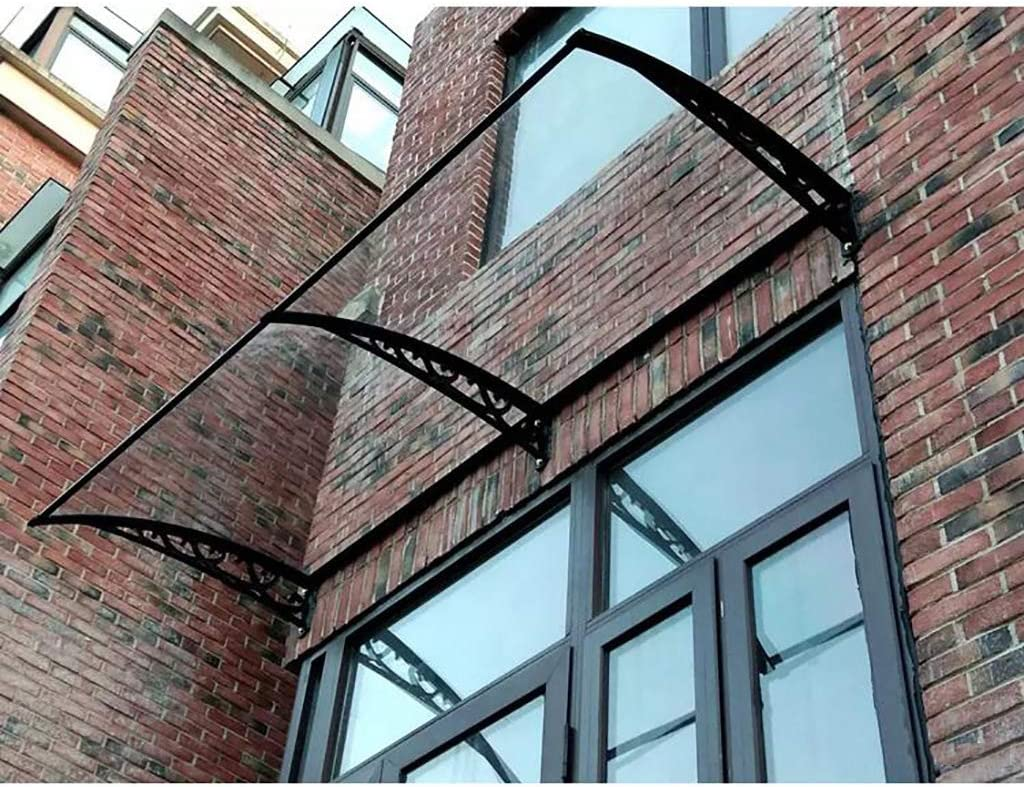 Size : 60 * 240cm PC Polycarbonate Lw Canopies Door Canopy Awning , Door Canopy Awning Shelter Front Back Porch,Door Canopy