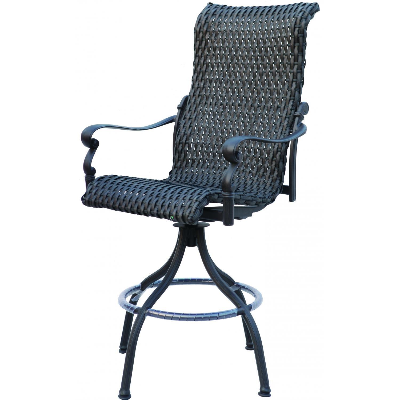 Amazon com darlee victoria swivel outdoor bar stool in espresso set of 2 kitchen dining