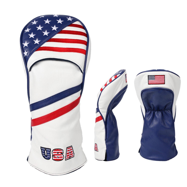 USA Flagゴルフウッドヘッドカバー B0792TBD25  Driver