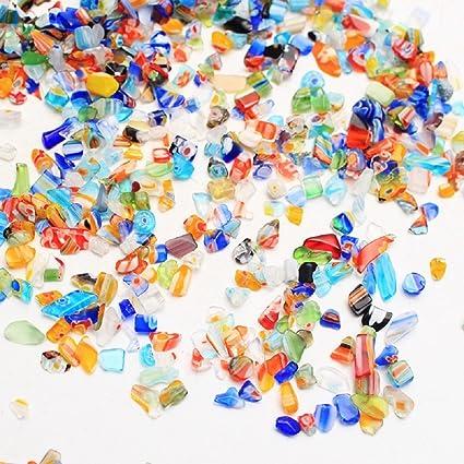 JUZIPI Decoración para Acuario con Acuario, Diseño de pecera con Piedras de Colores