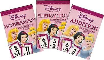 Flash Cards Addition Subtraction Multiplication Disney Princess Cards 3 Pack