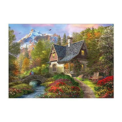 Amazon Com Bduco House And Creek 5d Diamond Painting Easy Large