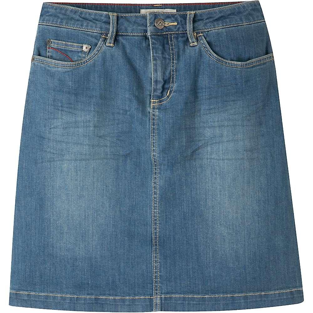 Mountain Khakis Women's Genevieve Jean Skirt Classic Fit, Light Wash, 2W