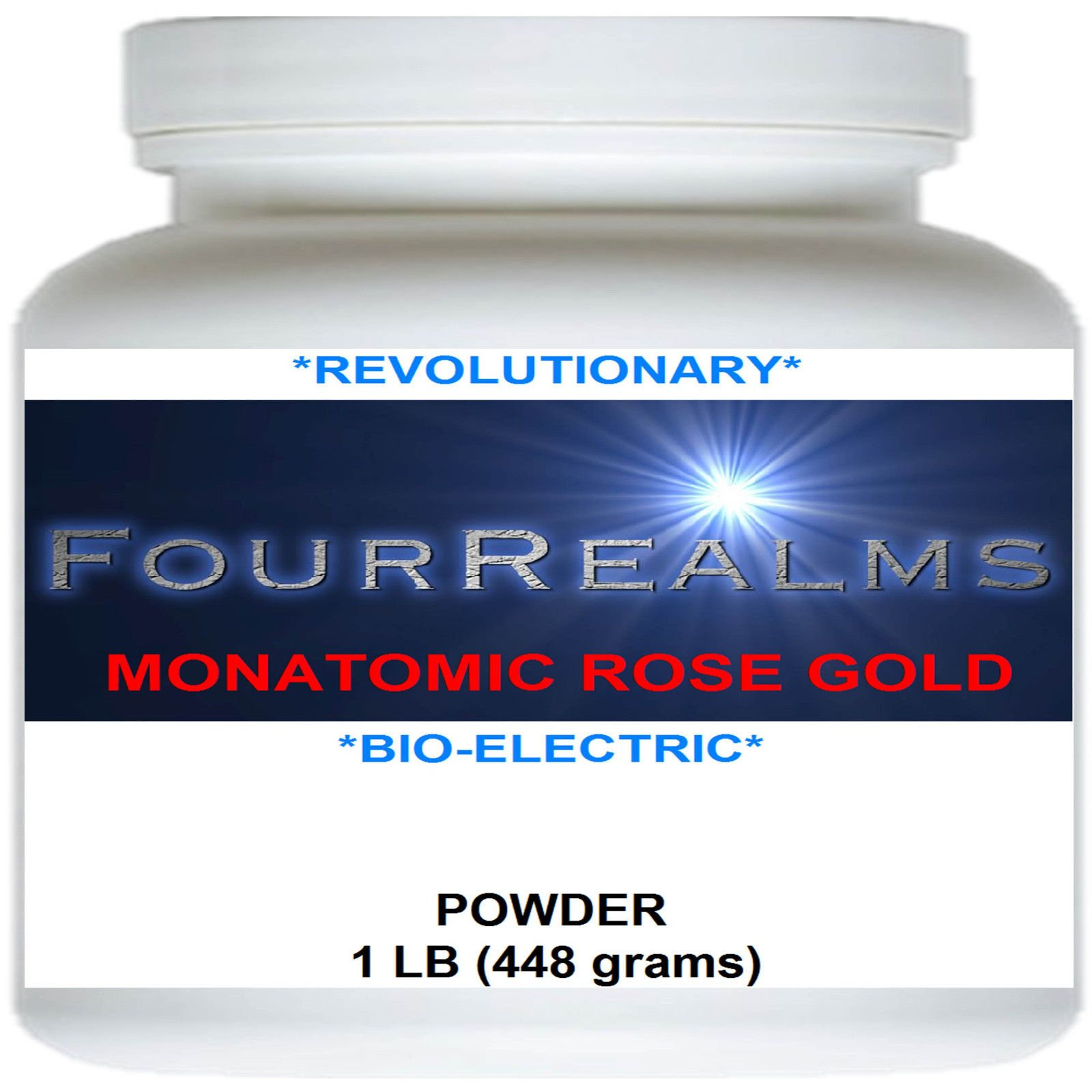 Monatomic Rose Gold - 448 grams (1lb) - Most Potent ORMUS!