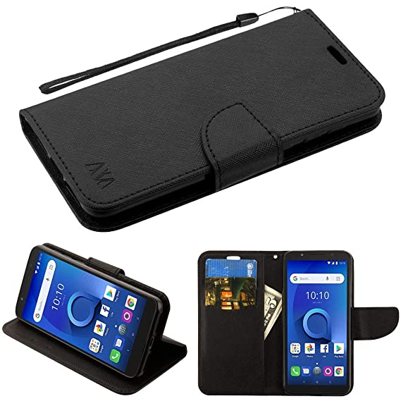 e54768caa731 Luckiefind Case Compatible with Alcatel 1X Evolve/IdealXTRA 5059 / Alcatel  TCL LX (A502DL), Premium Flip Wallet Pouch with Credit Card Slot Cover Case  ...