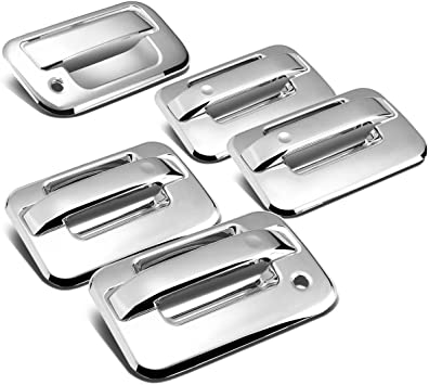Chrome For Ford F-150 11th Gen 2DR Tailgate w//keyhole+Door Handle Cover w//Coded Lock