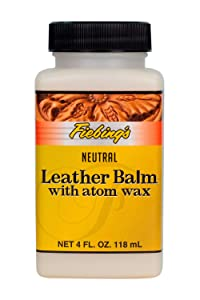 Leather Balm with Atom Wax Neutral, 4 oz.