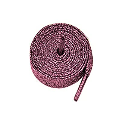 3006a34130ae Glitter Hot Pink 80cm Metallic Sparkly Flat Shoelaces For Kids & Ladies  Trainers