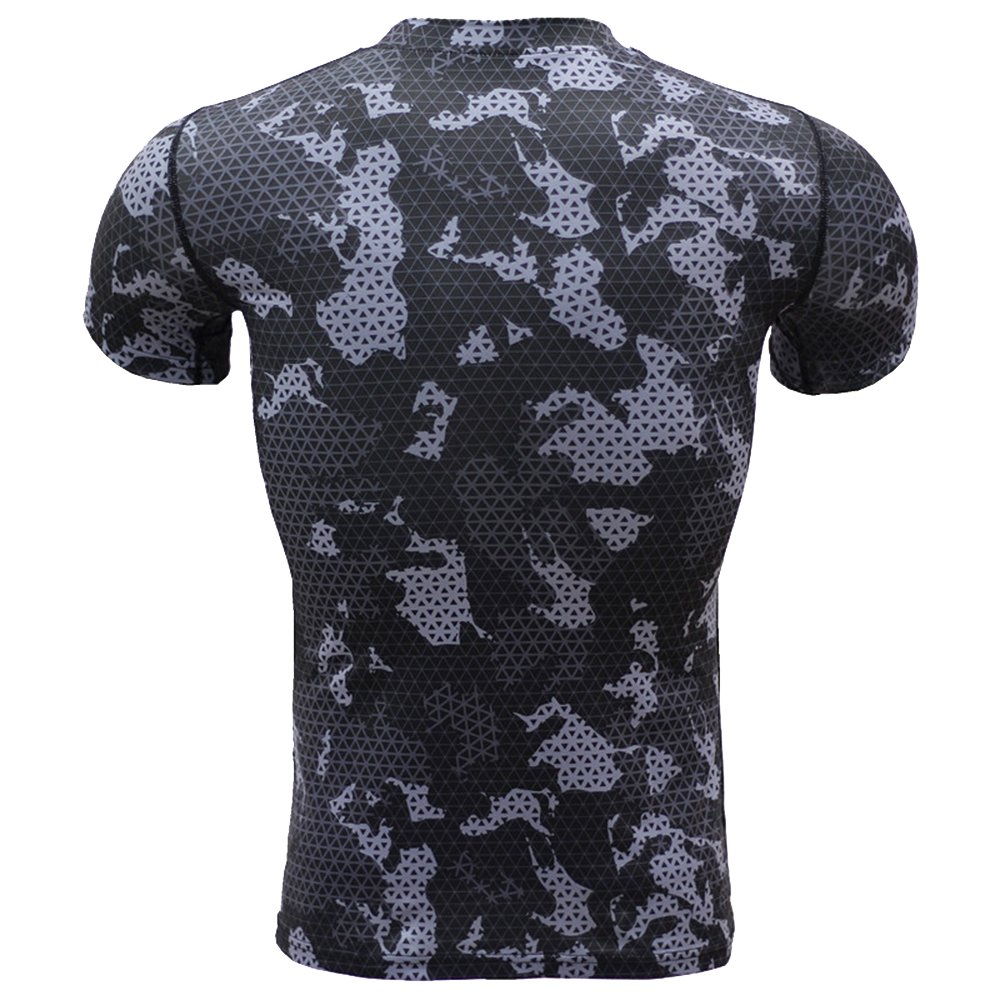 1Bests Mens Sports Fitness Camouflage Short Sleeve Tight Shirts ...