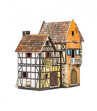Umbum 243 16 X 10 17 Cm Clever Papier Mittelalter Town Bakery 3D