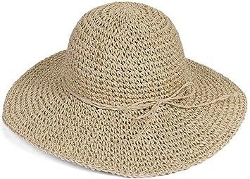 Amazon.com: HugeStore - Sombrero de paja plegable con ala ...