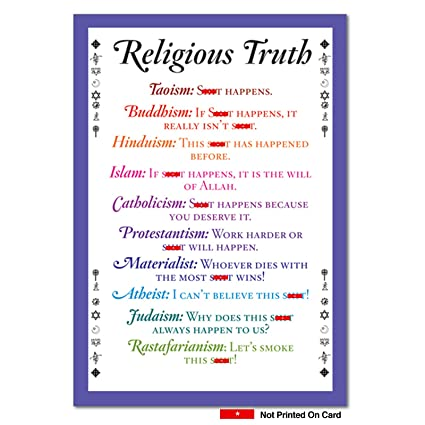 Amazon 0757 Religious Truth Unique Funny Birthday Card With