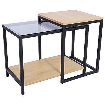 lifewit set di tavolino da 2 pezzi consolle multifuzionale ... - Tavoli Soggiorno Di Lusso 2