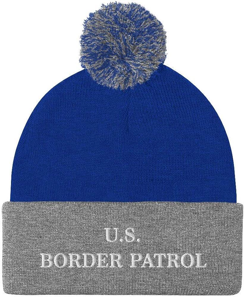 Hogue WS LLC US Border Patrol Hat (Embroidered Pom-Pom Beanie) Dept Homeland Security