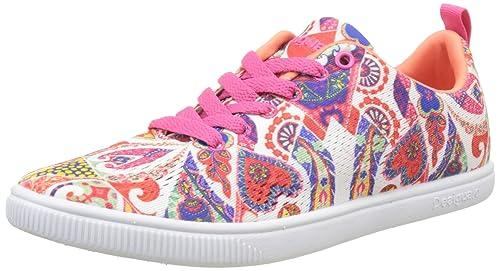 Desigual Shoes_Cosmic Candy, Zapatillas para Mujer, Blanco (1000 Blanco), 36 EU