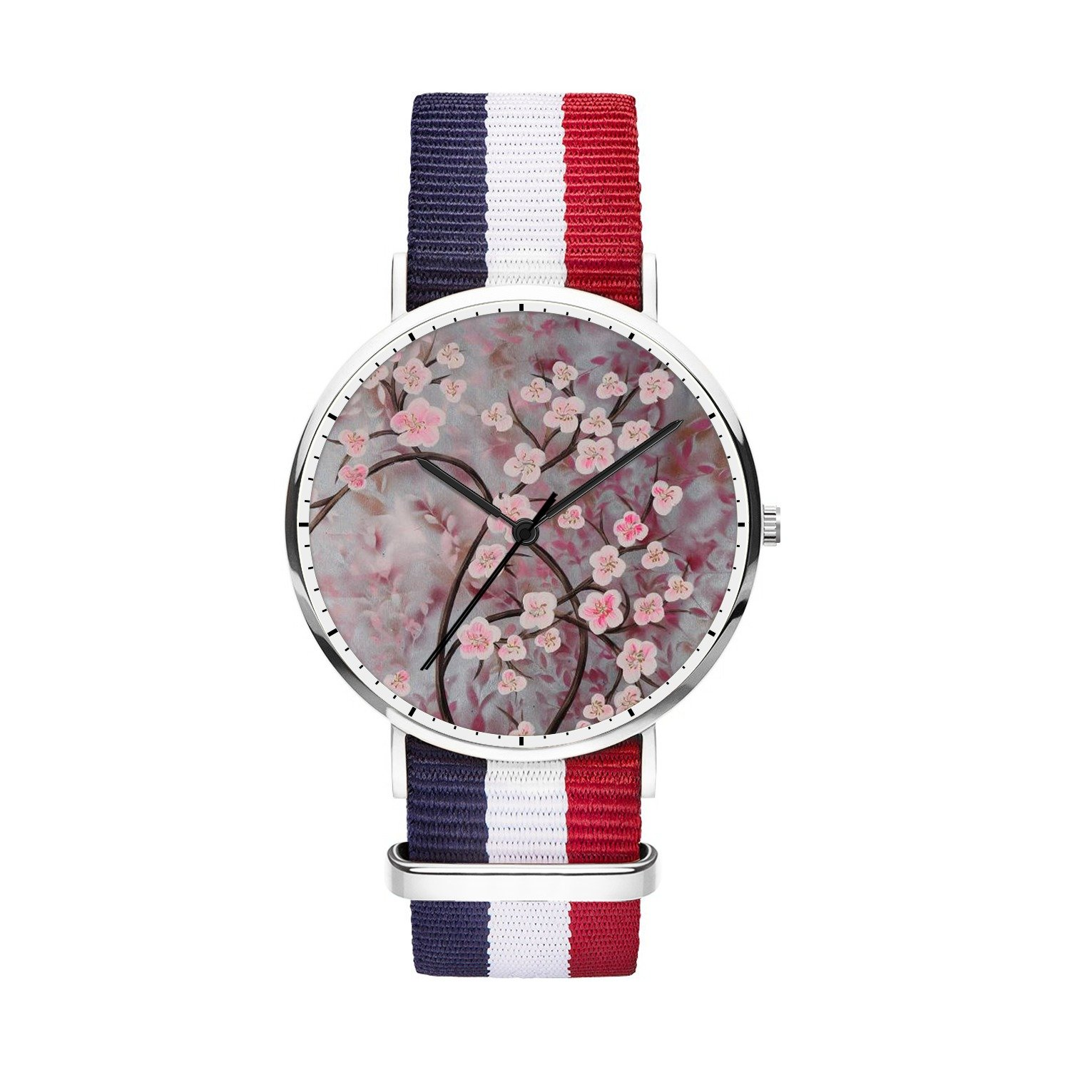 FELOOWSE Girls Watches, Women Watches, Sliver Slim Minimalist Imported Japanese Quartz PracticalWaterproof Unique Personalized Youth Fashion Design Cute Watches for Women.- Blossom Tree