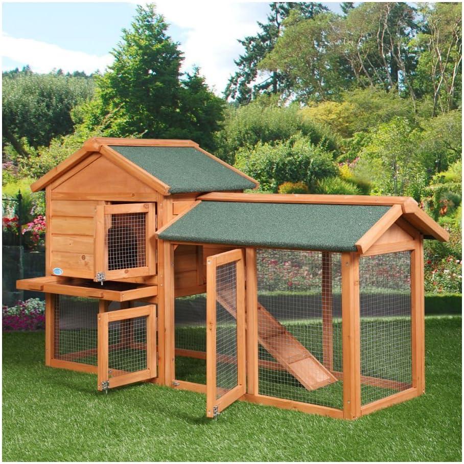 Amazon Com 58 Chicken Coop Backyard Hen Wooden Rabbit House