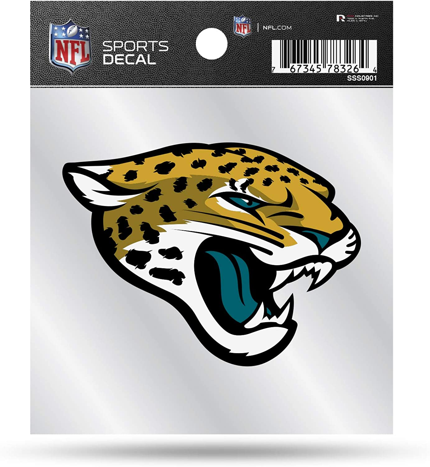 NFL Jacksonville Jaguars Primary Logo 4x4 Decal, Team Color, Size of individual decal will vary