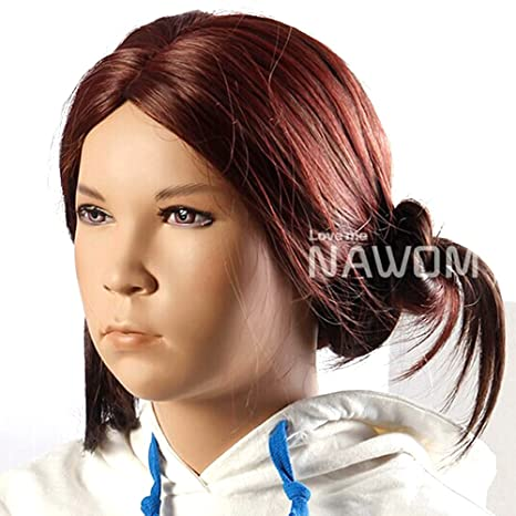 HSG 46 cm niños trenzar brazaletes pelucas brecha pelo mediterráneo granate suave pelucas