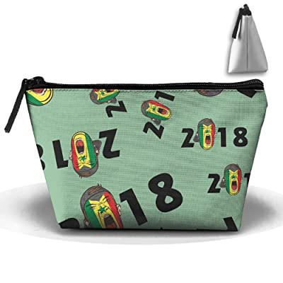 2018 Soccer Fans Senegal Unisex Portable Zipper Pouch Bags Trapezoid Bags Sewing Kit Medicine Bags For Home Office
