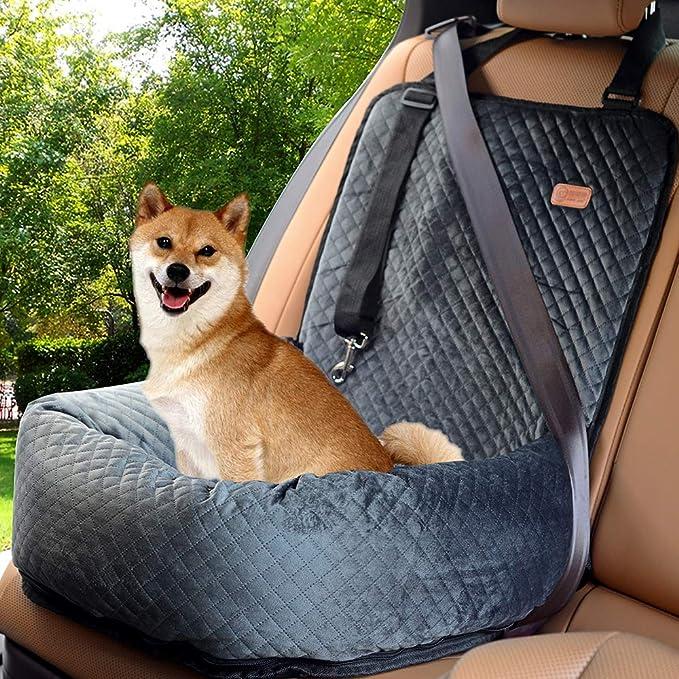 Bochao Autositz Für Hunde Haustier Sitzerhöhung Reisesitz Sicherheitsautositz Der Hundesitz Aus Materialien Ist Sicher Und Bequem Und Kann Für Einfache Reinigung Zerlegt Werden Grau Haustier