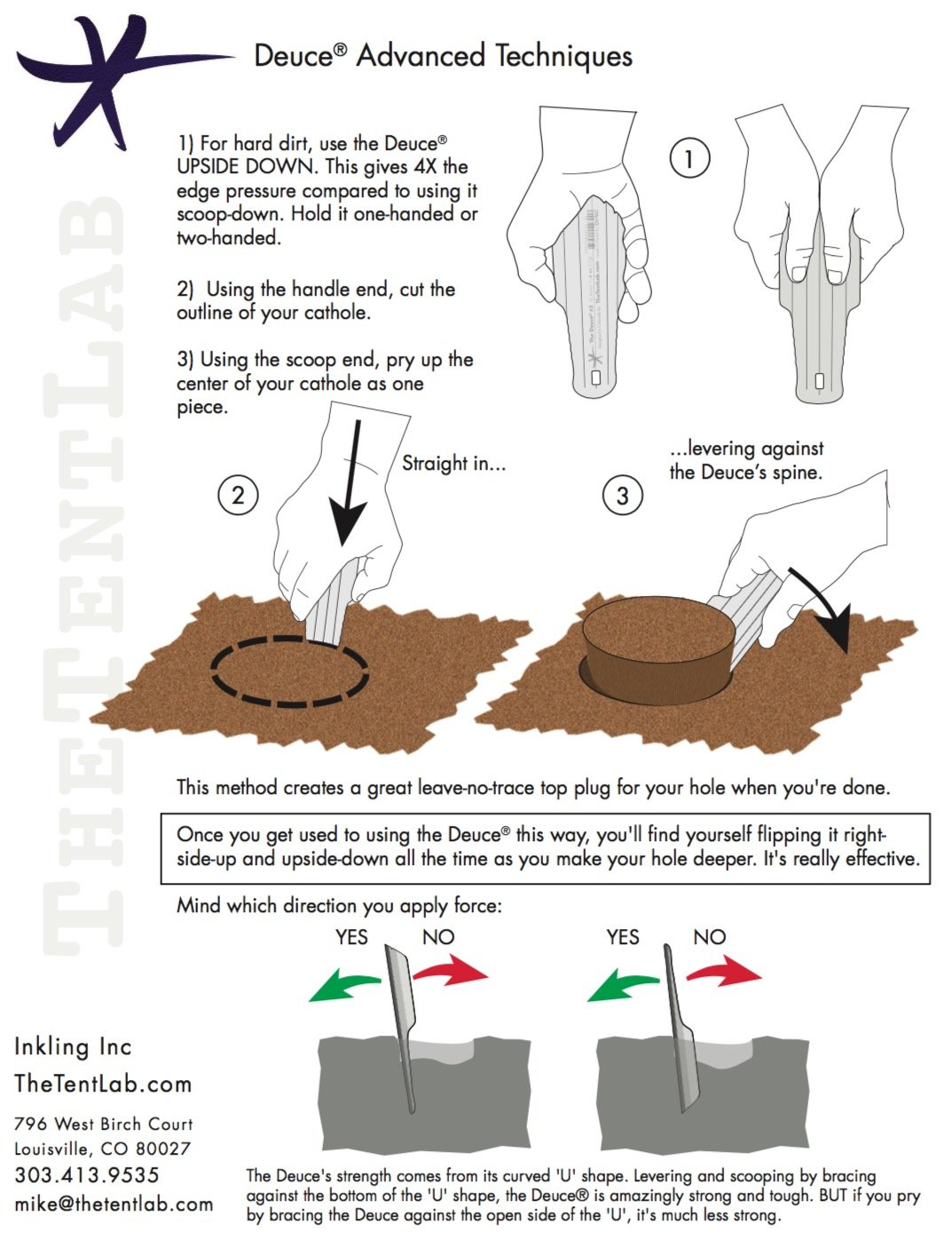 TheTentLab New Improved Deuce(R) Ultralight Backpacking Potty Trowel - Now in 3 Sizes by TheTentLab (Image #2)