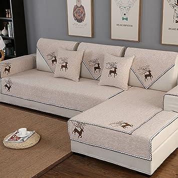 JINGJIE Funda de sofá,Color sólido Simple Moderno Protector ...