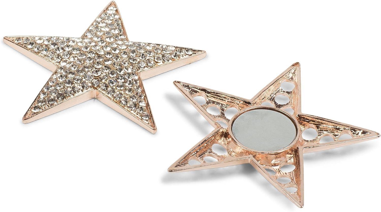 Femme 05050034 Foulards ou Ponchos Broche styleBREAKER Pendentif d/écoratif magn/étique en Forme d/étoile orn/é de Strass pour /écharpes
