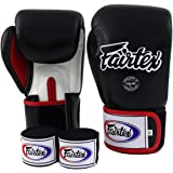 Fairtex Muay Thai Boxing Gloves BGV1 Black White Red Gloves & Handwraps Size : 10 12 14 16 oz Training & Sparring All Purpose Gloves for Kick Boxing MMA K1 Tight Fit Design