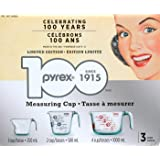 Pyrex 3 Measuring Cups 1,2,4 Cups Limited Edition 996093
