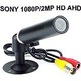 CNDST 2000TVL CCTV Sony 1080P HD AHD Color Mini Bullet Cámara de seguridad, Mini Spy Hidden Waterproof Camera 2MP StarLight, 3.6mm Lente 90 Grados DC 12V
