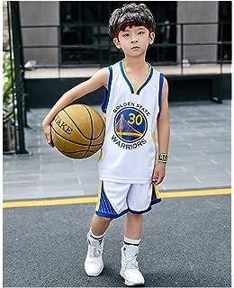 e0ff5314f08dd XCR NBA Guerriers Curry 30ème Golden State Maillot Costume Jersey Enfants  Garçons Filles Hommes D'