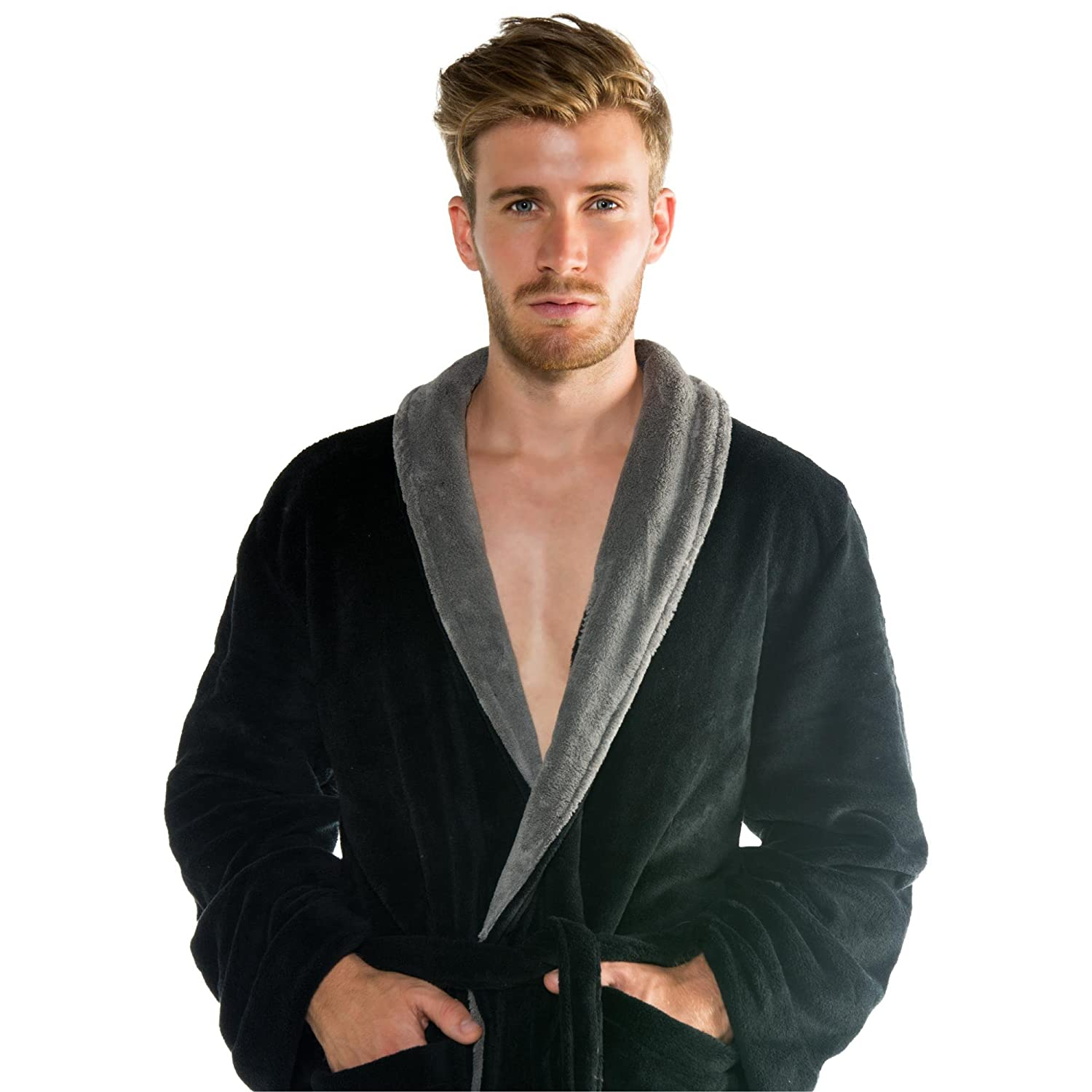 CelinaTex Womens and Mens Bathrobe with Shawl Collar Dressing Gown ...