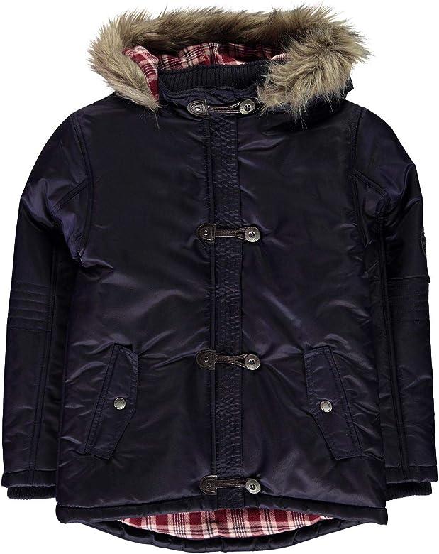 SoulCal Kids Girls Toggle Parka Jacket Junior Coat Top Long Sleeve Lightweight