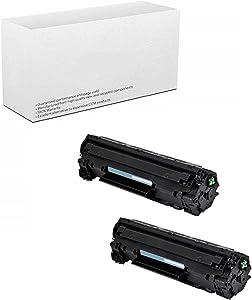 AM-Ink 2-Pack Compatible 85A CE285A Toner Cartridge Replacement for HP Laserjet Pro P1102W P1102 P1100 M1212NFW M1212NF M1210 M1132 M1130 Printer (Black)