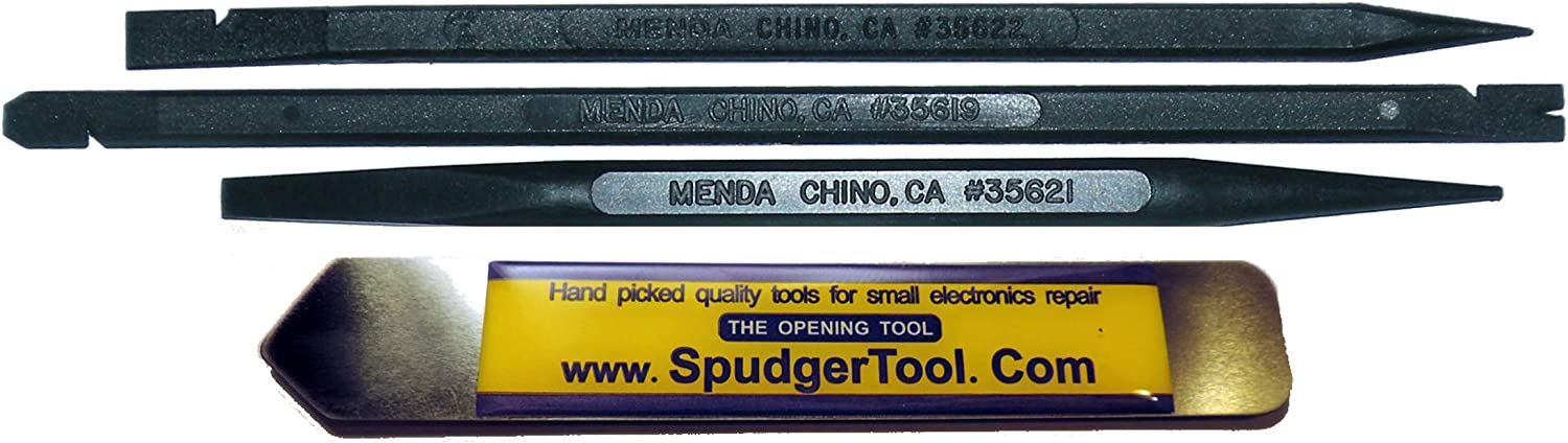 4 Non-Mar US Made Menda Nylon and Metal Spudger Pry Repair Tools to Open Laptop, Smartphone, Tablet and MP3 Cases