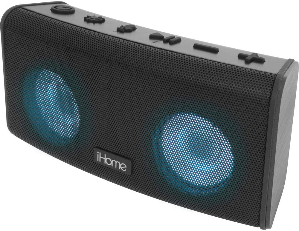 iHome iBT588 iP67-Certified Waterproof Bluetooth Stereo Rechargeable Color Changing Speaker